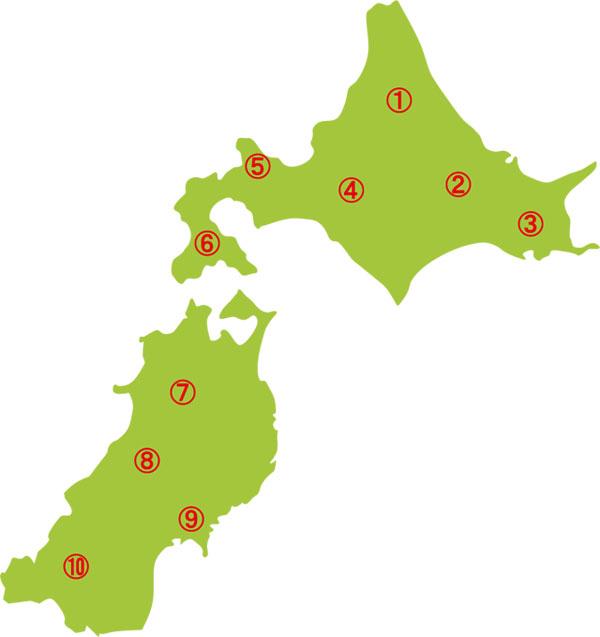 北海道&東北地方マップ