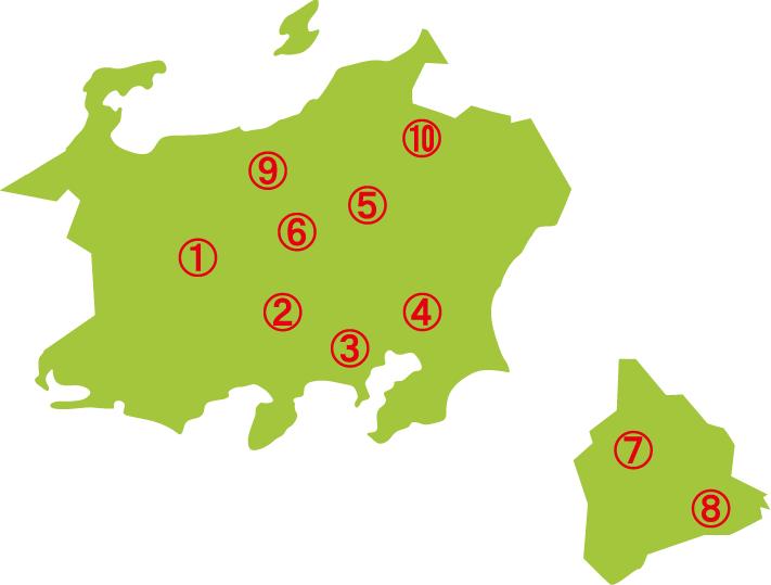 関東地方&ハワイマップ